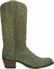 Groene Sendra 11627 Debora dames cowboylaarzen - Kaki - Maat 39