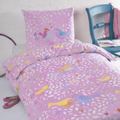Day Dream Mees - Dekbedovertrek - Eenpersoons - 140x200 cm + 1 kussensloop 60x70 cm - Roze