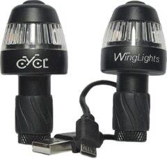 Zwarte CYCL Winglights 360 fixed -USB oplaadbaar - Richtingaanwijzers + voorlicht + achterlicht