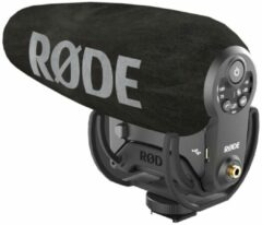RODE Microphones Videomic Pro+ Dasspeld Cameramicrofoon Zendmethode:Digitaal Flitsschoenmontage, Incl. windkap, Incl. kabel