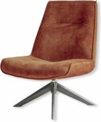 Vtw Living Draaifauteuil - fauteuil - relaxstoel - zitmeubel - loungestoel - draaistoel - Stoel - design stoel - lounge - bruin - 50 cm breed