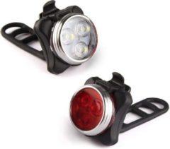 Rydon Fietslamp SET - USB - Oplaadbaar - Zwart - Waterdicht