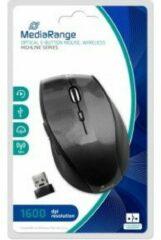 MediaRange MROS207 RF Draadloos Optisch 1600DPI Zwart, Koolstof Rechtshandig muis