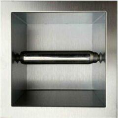 Sani Royal Inbouw wc rolhouder RVS voor 1 rol 12cm diep