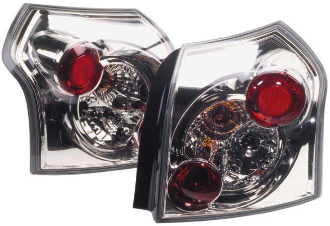 Afbeelding van Universeel Set Achterlichten Toyota Corolla HB E12 2001-2005 - Chroom