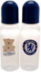 Blauwe Chelsea FC Chelsea 2 pak Drinklfes Babyfles