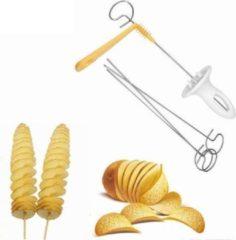Witte Merkloos / Sans marque Potato twister- aardappel spiraal snijder- Chips maker-aardappel snijder-Spies