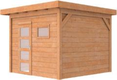 Van Kooten Tuin en Buitenleven Woodvision Douglas Tuinhuis Topvision Raaf Blank 303x303 cm