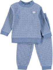Blauwe Feetje Wafel Pyjama - Blue Melee - maat 56