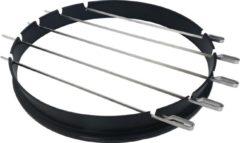 Roestvrijstalen Jx BBQ Ring voor 57 CM kogel grills met spiesen set ( past o.a op Weber Ø 57 CM )