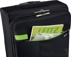 Zwarte Leitz Complete 4-wiels Carry-On Trolley Smart Traveller - Zwart