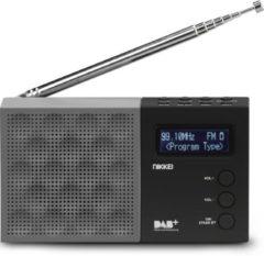 Grijze Nikkei NDB30BK - Portable DAB+ Radio met PLL FM - Zwart/Grijs