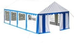 Blauwe Vidaxl partytent 4 x 8 m pvc blauw