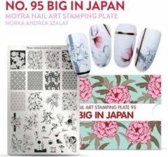 Moyra Nail Art Stamping Plate 95 - Big in Japan