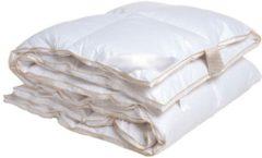 Witte ISleep Donzen 4-Seizoenen Dekbed - 100% Poolse Ganzendons - Eenpersoons - 140x220 cm - Wit