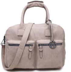 Zandkleurige Wimona Alessia - school / werk 14 inch laptoptas - westernbag - zand