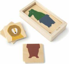 Trixie houten dieren puzzel   combinatiepuzzel   speelgoed   babypuzzel