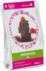 Witte BROWNIES MIX GLUTENVRIJ 400g. bakmix | bakmixen .Taartingrediënten en bakspullen glutenvrij bakmixen kopen. Tasty Me.