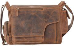 Green Burry Greenburry Vintage New Hunting Bag II Sattelbraun Umhängetasche