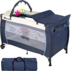 TecTake reisbed babybed campingbed reisbedje Dodo blauw - 402201
