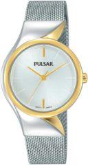 Pulsar PH8230X1 Dameshorloge 'Attittude' Zilverkleurige Milanese band 30 mm