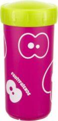 Roze Fruitfriends Drinkbeker Transparant - 300 ml - Pink