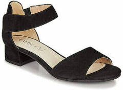 Caprice Carla suède sandalettes zwart