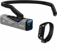 Antraciet-grijze Belesy® GIMBAL 4K Remote - Camera - Stabilsator - Afstandsbediening