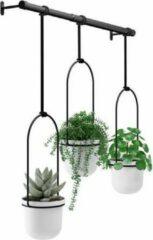 Witte Umbra Bloempot Plantenhanger - Triflora plafond - metaal - koord