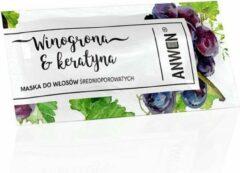 Anwen - Maska do włosów średnioporowatych Winogrona & Keratyna 10ml