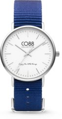 CO88 Collection Watches 8CW 10016 Horloge - Nato Band - Ø 36 mm - Donker Blauw