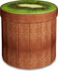 Relaxdays Sitzhocker mit Stauraum Obst