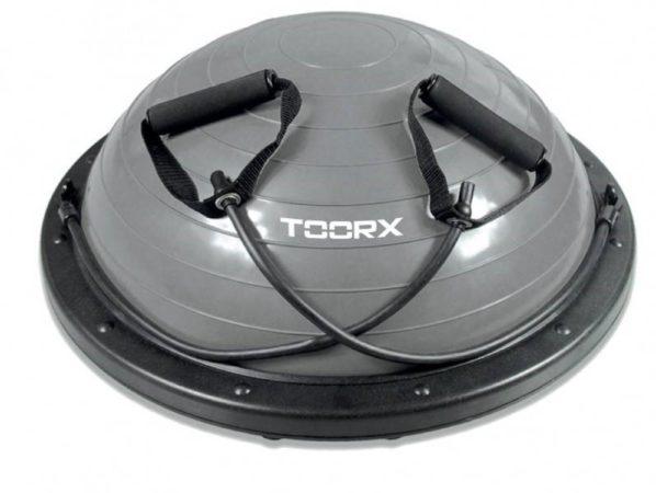 Afbeelding van Toorx Fitness Toorx Balanstrainer PRO - Ø 58 cm - Zwart/Grijs - met Resistance Tubes - incl pomp