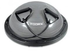 Toorx Fitness Toorx Balanstrainer PRO - Ø 58 cm - Zwart/Grijs - met Resistance Tubes - incl pomp