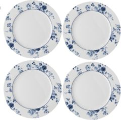 Blauwe Laura Ashley set van 4 Ontbijtborden 20 cm China Rose