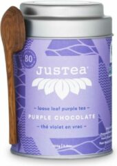 Purple Chocolate- JUSTEA -100 gram/80 kop - Thee cadeau - Biologische losse thee - Fairtrade !