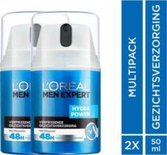 L'Oréal Paris Men Expert L'Oréal Paris Men Expert Hydra Power Crème 2 x 50 ml - Voordeelverpakking