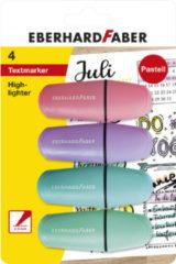 WK30Markeerstift EFA mini pastel 4st. op kaart (roze, paars, blauw en groen)