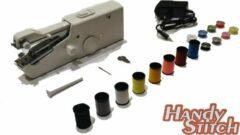Zwarte Handy Switch Handy Stitch - PREMIUM Handnaaimachine met Adapter + 16 Spoelen garen en accessoires - Compact - Draagbare reis naaimachine - Elektrisch of op Batterijen