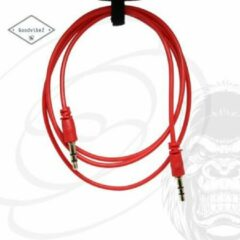 GoodvibeZ Audio Kabel 3.5mm Jack 1M male to male | Quality Cable | voor Auto Mobiel MP3-Speler Koptelefoon Speaker Mixer Headset | Rood