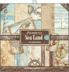 Stamperia Sea Land 12x12 Inch Paper Pack (SBBL37)