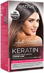 Kativa KERATIN ANTI-FRIZZ gladmaken zonder ijzer xtremverzorging 30 dagen Gladmakende behandeling