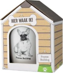 Witte Paper dreams Mok – Franse Bulldog – Dier – Puppy – Hond – Dieren – Mokken en bekers – Keramiek – Mokken - Porselein - Honden – Cadeau - Kado