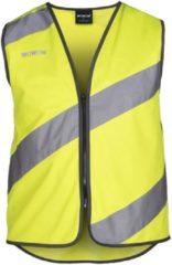 Gele WOWOW Roadie Veiligheidsvestje - Fluojas Fietsen hardlopen - Small - EN1150 certificaat