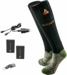 Groene ALPENHEAT Verwarmde Sokken FIRE-SOCKS, met afstandsbediening - WOL - XLarge (AJ27-RC-XL)