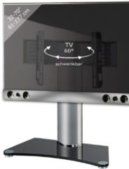 TV-Standfuß + Soundbar 'SBM800' | TV-Wandhalterung incl. Soundbarhalterung VCM silber/aluminium
