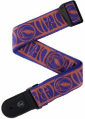 D'Addario 50GD00 Grateful Dead Steal your face gitaarband rood+blauw