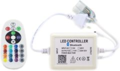 Witte Groenovatie LED Neon Flex RGB Bluetooth Controller - Aansluitstekker Met Afstandsbediening