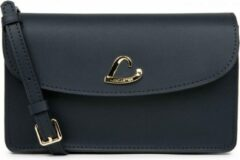 Marineblauwe Clutch LANCASTER Paris City Philos - leer - Donker Blauw
