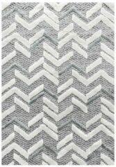 Pisa Modern Design Vloerkleed Laagpolig Grijs- 280x370 CM